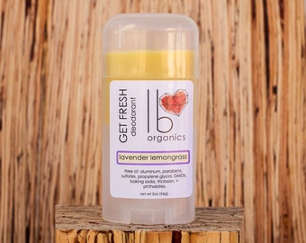 Organic Deodorant // Lavender Lemongrass // Baking Soda free for Sensitive Skin