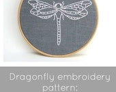 Dragonfly embroidery pattern, dragonfly embroidery, dragonfly pattern, I Heart Stitch Art, iheartstitchart, PDF embroidery pattern