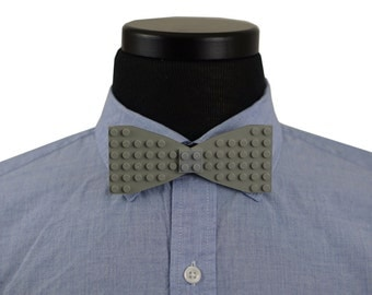 Gray Brick Bow Tie