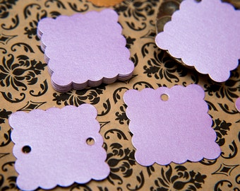"""50 Lilac Purple Pearlised 1.5"""" Square Luxury Gift Tags, Blank Tags, Wishing Tree, Wedding favour tag, Jewellery Tag, wedding favors 1.5 inch"""