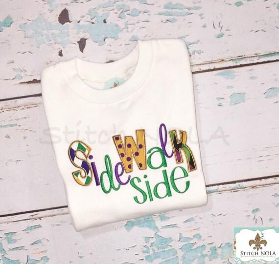Mardi Gras Neutral Ground OR Sidewalk Side Shirt, Bodysuit or Gown