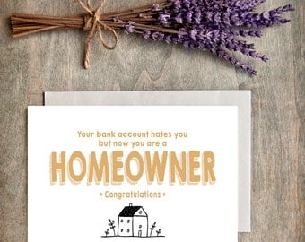New Home Card/Congrats/Housewarming Greeting Card