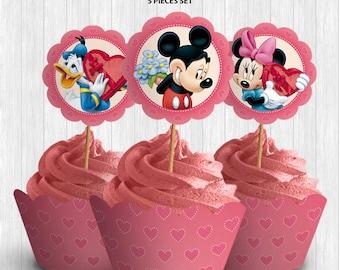 Disney Valentines Cupcake Decor