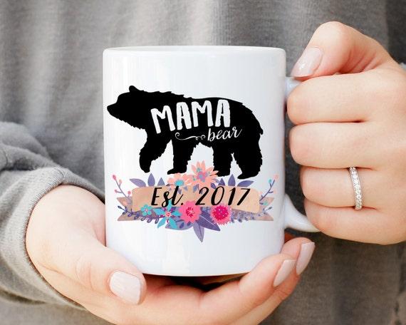 Mama Bear Mug, Baby Shower Mug, Gift for Mom, Baby Announcement, Baby Shower Gift, Mama Bear Papa Bear Mug Set, Momma Bear Mug, Custom Mug