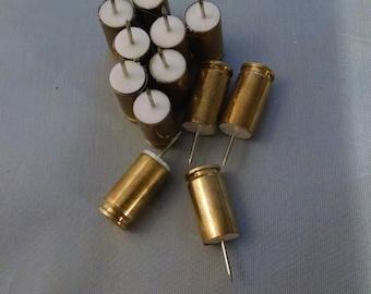 Fired Bullets, 12 Push Pins, 9mm Bullet Shell, push pins, Thumb Tacks, Free Shipping