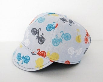 Baby cycling hat, Baby boy hat, Baby cap, Reversible hat, Toddler's cap, Kid's cap, Bicycle hat, Multicolor