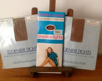 Vintage Tights 1970's. St.Michael & Caroline Cooper Tights