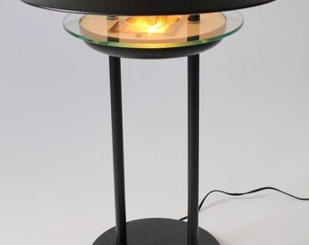 1980 ITALIAN HALOGEN TABLE lamp marble base