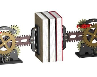 Steam Punk Book Ends dxf file for CNC cutting