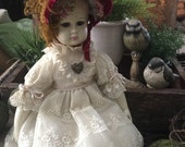"Hand Painted Vintage Altered Bisque Doll ""Victoria"" Stunning!"