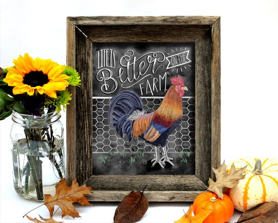 Rooster Kitchen Decor Farm Sign Rooster Decor So God Made A