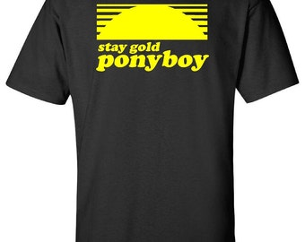 Unique stay gold ponyboy related items etsy for Stay gold ponyboy