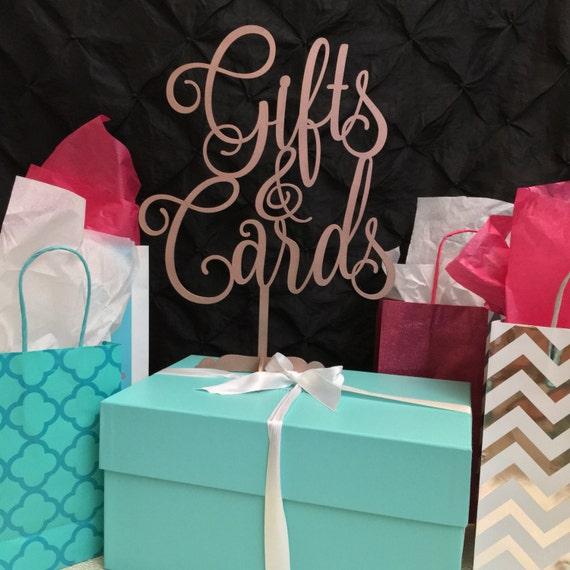 Gift Sign, Laser Cut Sign, Cards Sign, Presents Sign, Baby Shower Sign, Gold Sign, Wedding Sign, Silver Sign, Rose Gold Table Sign