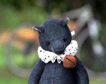 "NEW Artist teddy bear ""Black vintage""  26 cm animals-stuffed- bear-interior toy-personalized teddy bear"
