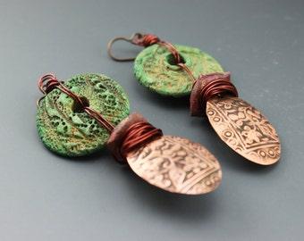 Rustic Earrings, Rustic Boho Earrings, Boho Earrings, Rustic Southwest Earrings, Southwest Earrings, #451-114