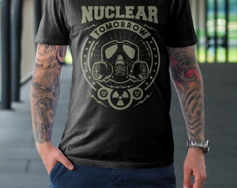 Nuclear Fallout Men's T Shirt - American Apparel T-shirt shirt adult soft graphic design black  Gift for him tee