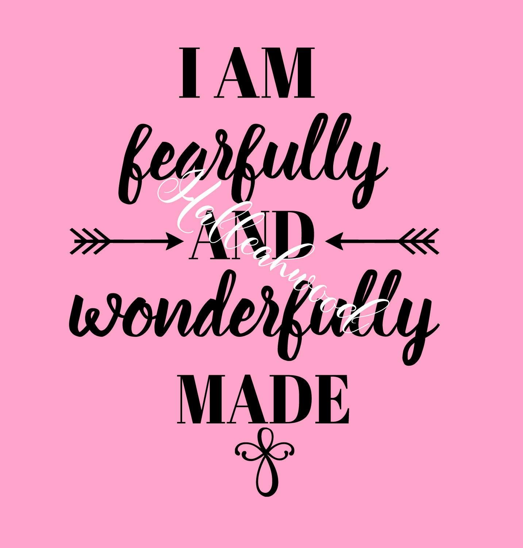 I Am Fearfully And Wonderfully Made Digital Design