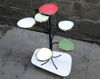 Mid Century Modern plant stand table from Germany