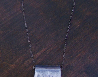 Purple / Crystal / Amethyst / Slice / Necklace