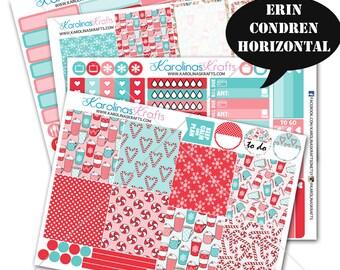 Peppermint Winter Stickers, Weekly Planner Kit 200+, for Erin Condren Horizontal Planner Stickers, December Planner Sticker #SQ00317-ECH