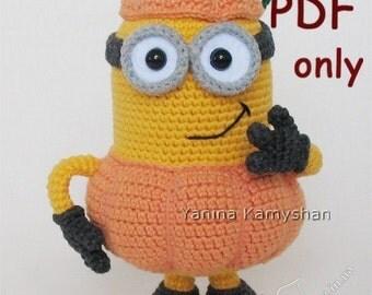 Pumpkin Monster, amigurumi crochet pattern