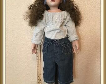 """28"""" Porcelain Girl Doll"""
