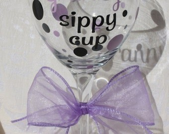 Granny's sippy cup. 20 ounce angular wine glass (item #2-3-GS)