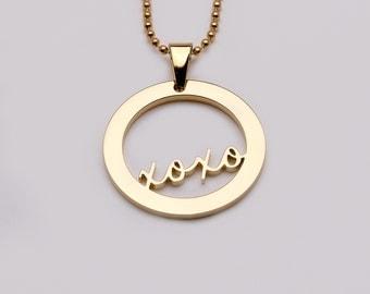 XOXO (kiss hug) pendant (premium range)