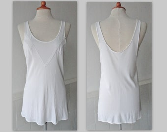 Beautiful 40s Top // White Rayon