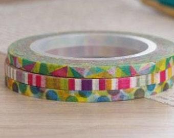 3 mm  Washi tape set (3 roll)