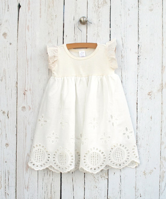 Baby Girl Eyelet Dress Baby Girl Ivory Easter Dress by