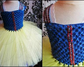 Princess Tutu Dress/Snow White Tutu Dress/Princess Snow White Costume/Snow White Cosplay/Snow White Costume/Halloween Costume/Birthday Dress