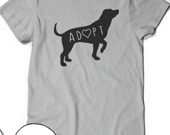 Dog Adoption T-Shirt T Shirt Tee Mens Womens Ladies Doggy Lady Guy Puppy Funny Humor Gift Present I love Dogs Pet Adoption Rescue Save