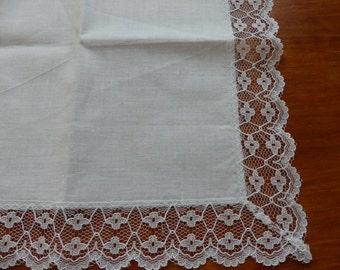 Bridesmaid Gift for Women Wedding Keepsake Grandmother Gift Parents Wedding Gift White Lace Hankie Wedding Hankies Wedding Handkerchief