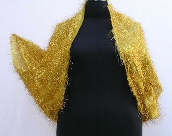 Gold Shrug, plus size shrug, lame shrug, gold bolero, lame bolero, upcycled shrug, upcycled bolero, refashioned shrug, disco shrug, bling