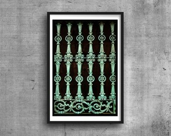 Decorative Iron Door Photo New Orleans Abstract Photography Photograph Wall Art Print French Quarter