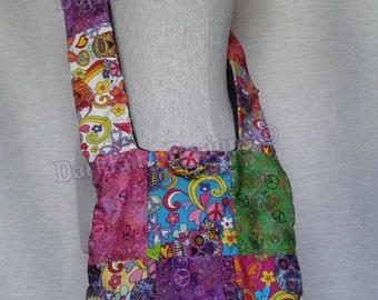 Patchwork SUGAR SKULLS sloppy bag