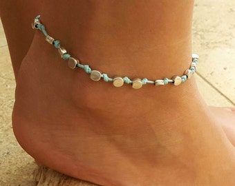 Turquoise Anklet - Ankle Bracelet - Beaded Anklet - Foot Jewelry - Foot Bracelet - Anklets For Women - Summer Jewelry - Beach Jewelry