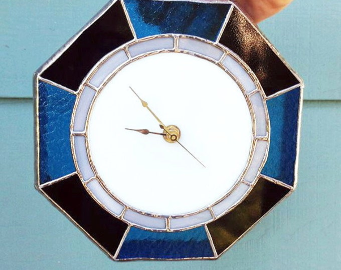 Stained glass clock, Wall Clock, Modern clock, unique clock, Glass Clocks, Home Decor, gift for him, Custom Clocks, Mothers day gift, clocks