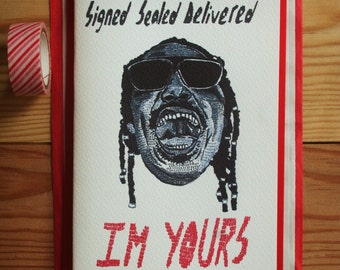 Stevie Wonder 'signed sealed delivered I'M YOURS' card *free UK postage'