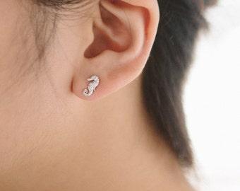 Seahorse Earrings - 010100177-010100178