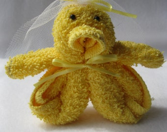 Baby Shower Favor Washcloth Baby Duckies