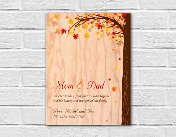 Gift Ideas 25th Wedding Anniversary: 25th Anniversary Gifts For Parents 25th Wedding Anniversary