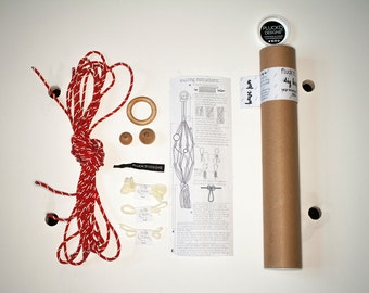 DIY Knot Kit : Small or Large - all colours - macrame knot kit - plant hanger - knotted plant hanger - macrame - succulents - cactus
