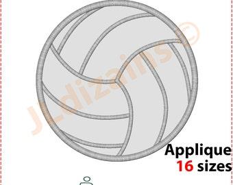 Volleyball Applique Design. Volleyball embroidery design. Embroidery designs volleyball. Embroidery applique. Ball Machine embroidery design