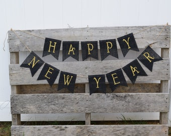 New Years Eve Decorations- Happy New Year Banner- New Years Decorations- New Years 2017- Happy New Years- Party Decorations- New Years Decor