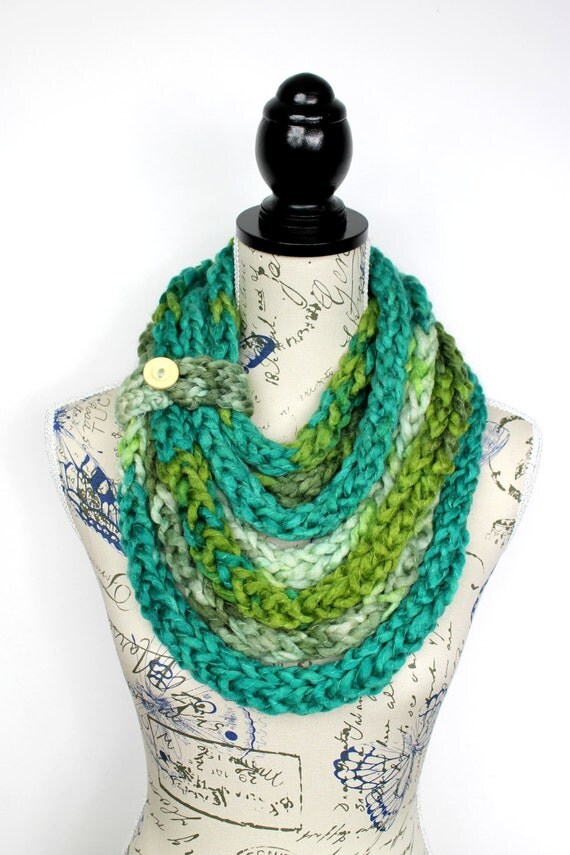 Knit Necklace Scarf Knitted Shawl Womens Infinity Scarfs Knit