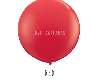 """Red 36"""" Balloon, Red Wedding Balloon, Huge Red Balloon, Giant Round Red Balloon, Red Birthday Party Decor, Red Party Decorations"""
