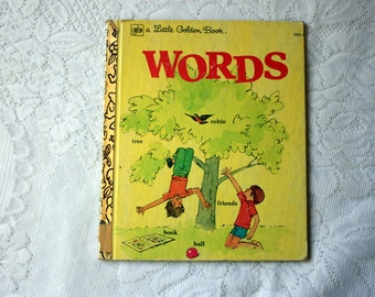 Words a Little Golden Book - Selma Lola Chambers - vintage words book - vintage dictionary
