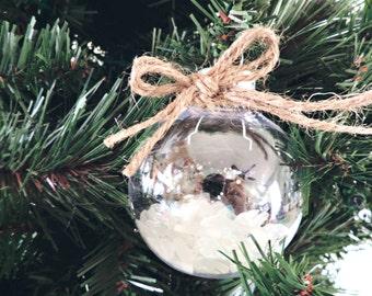 Sea Glass Ornament - Beach Glass Ornament - Coastal Ornament - Nautical Ornament - Beach Christmas Decor - Beach Christmas - Beach Holiday